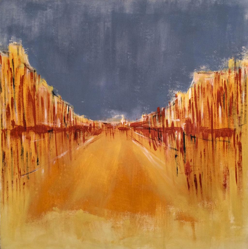 N°2563 - Voie royale - Acrylique et pigments sur toile - 90 x 90 cm - 2 juillet 2016