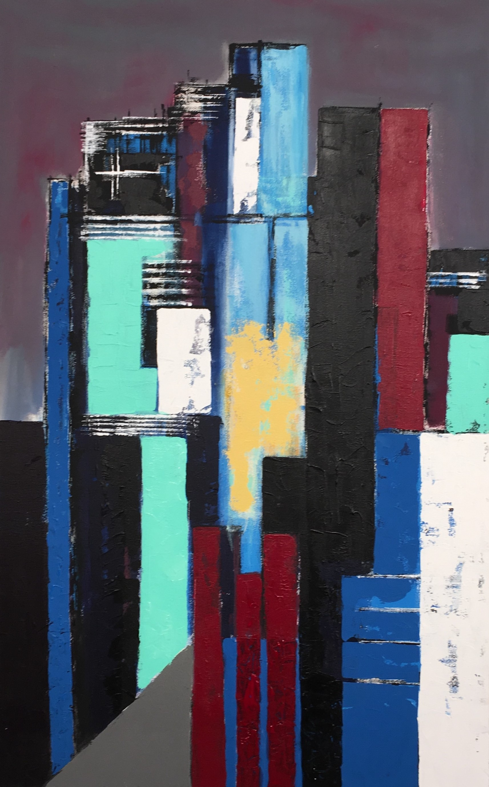N° 4021- Acrylique sur toile - 116 x 75 cm - 29 novembre 2017