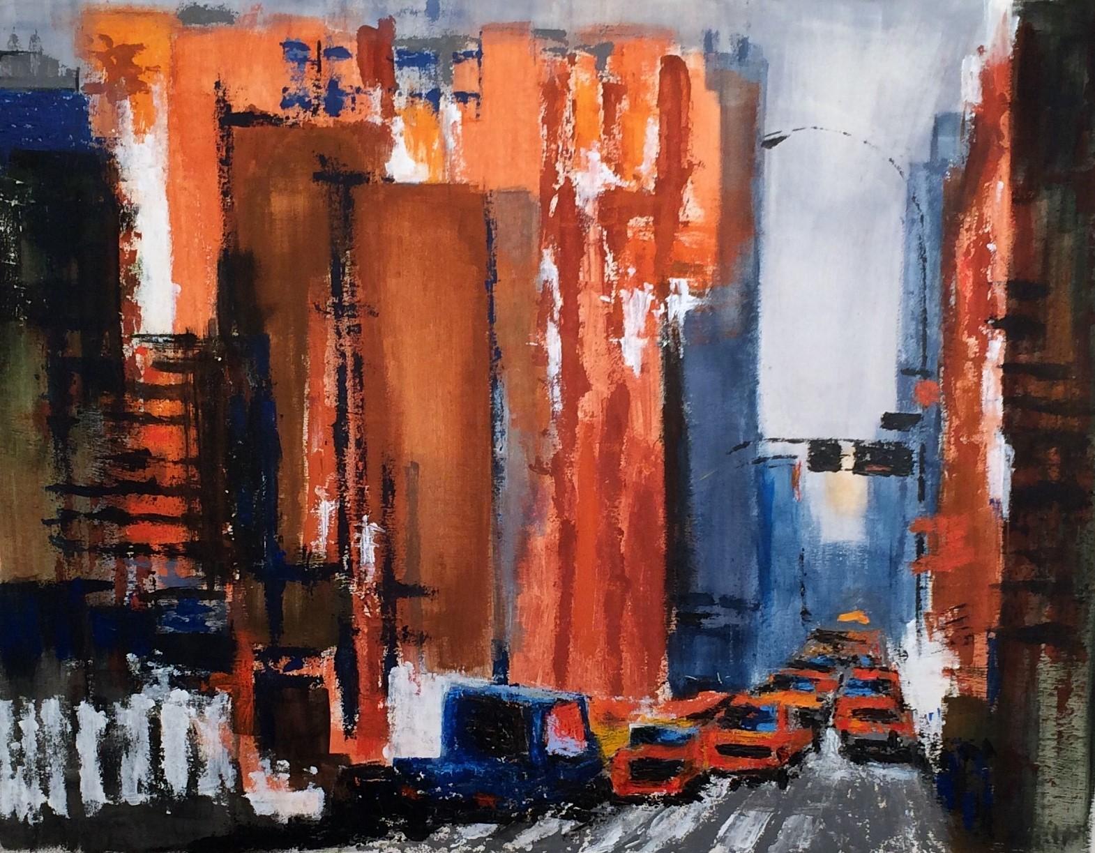 N°3220 - One way - Acrylique et pigments sur toile - 89 x 116 cm - 4 février 2017