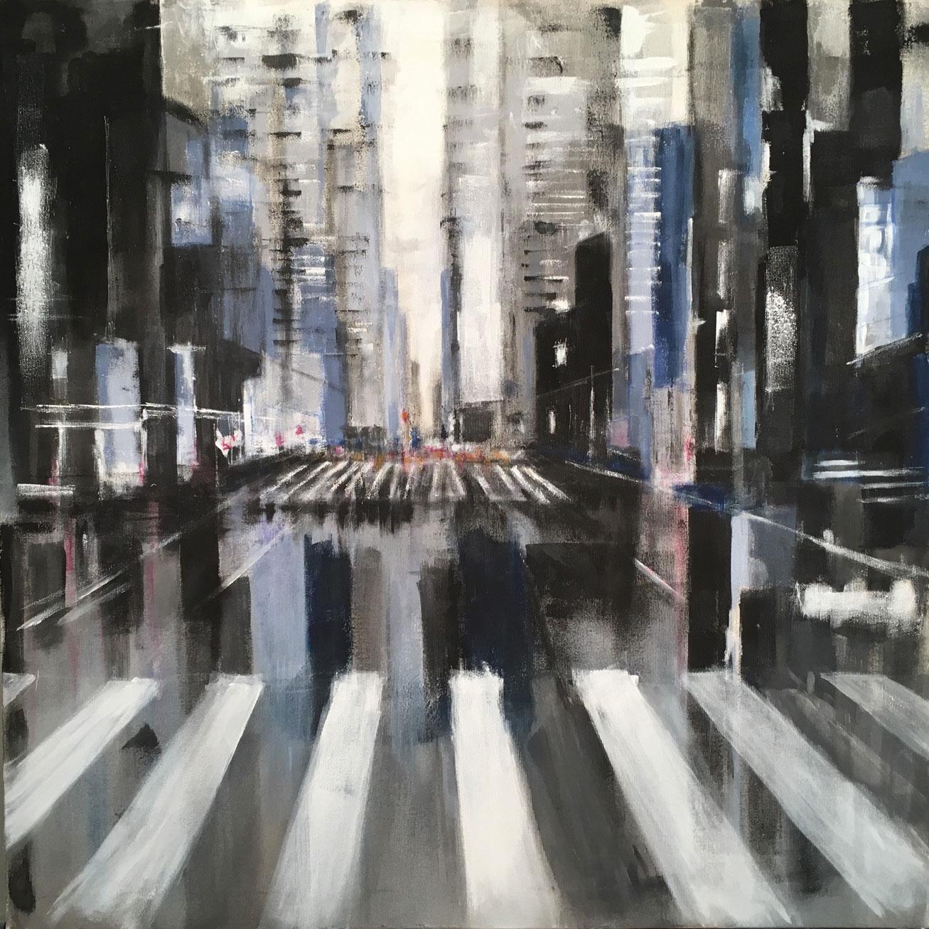 N°3436 - Acrylique sur toile - 100 x 100 cm - 21 septembre 2017