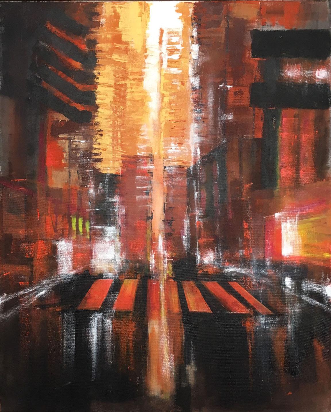 N°3445 - Acrylique et pigments sur toile - 100 x 81 cm - 28 septembre 2017