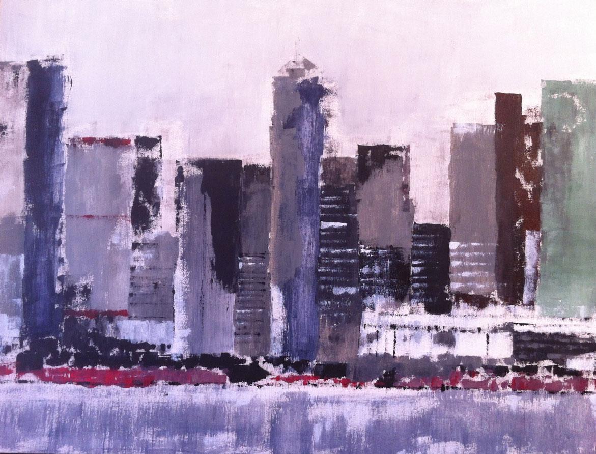 N°556 - NYC - Acrylique sur toile - 116 x 89 cm - 31 juillet 2013
