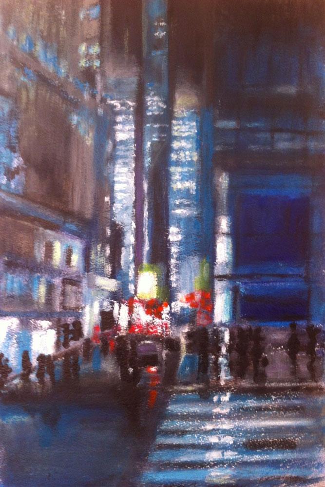 N°844 - 42ème rue NYC - Acrylique sur papier - 65 x 38 cm - 27 novembre 2013